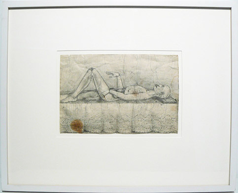 June Leaf, 1951,  Operation , Pencil on paper, 16.75h x 20.75w in. (framed)