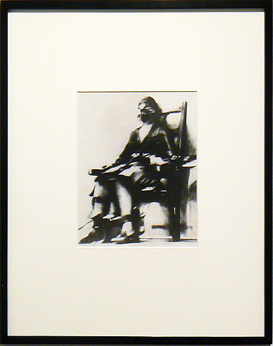 Thomas Howard, 1928 (printed 1970s),  Ruth Snyder in the Electric Chair , Silver gelatin print, 20.75h x 16.75 w in. (framed)
