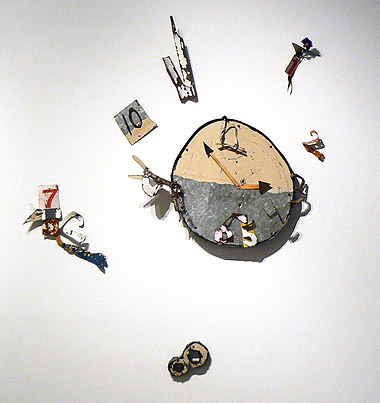 Matthew Blackwell, 2012,  Where Time Goes , Mixed media, 55h x 46w x 3d in.