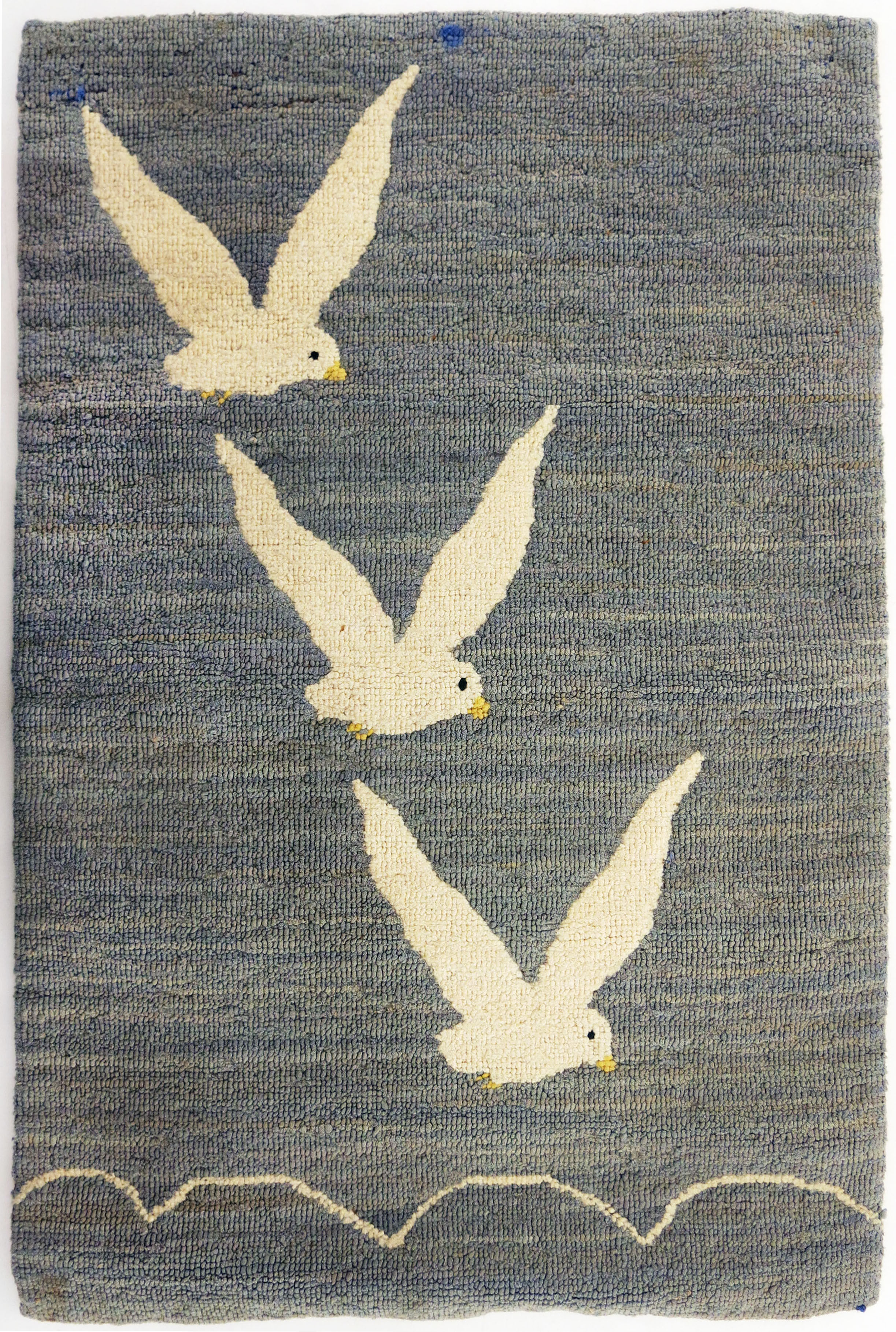 Anonymous, The Grenfell Mission, 3 Seagulls/Victory, c. 1930, silk, rayon; dyed, 21h x 14w in.