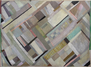 Clare Grill, Blanket, 2010, oil on linen, 47h x 63w in.