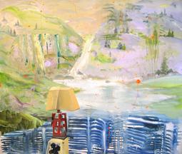 Judith Simonian, Fine Asian Atmosphere, 2009, acrylic on canvas, 66h x 76w in.
