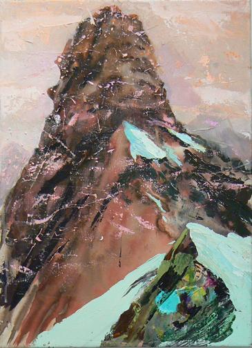 Judith Simonian, Rock Candy Mountain, 2010, acrylic on canvas, 28h x 20w in.