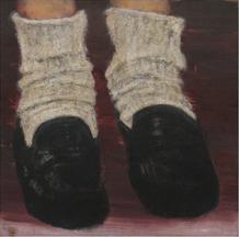 Clare Grill, Sleepwalker, 2010, oil on linen, 11h x 11w in.