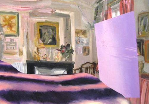 Judith Simonian, Fake Fur, 2008, acrylic on canvas, 22h x 28w in.