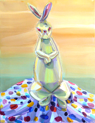 Judith Linhares,  Arctic Hare,  2009, oil on linen, 18h x 14w in.
