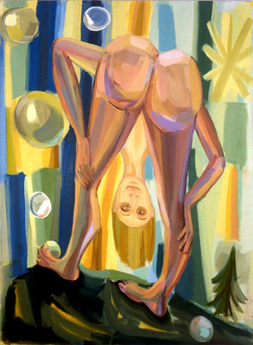 Judith Linhares,  Deja Vu,  2009, oil on linen, 60h x 36w in.