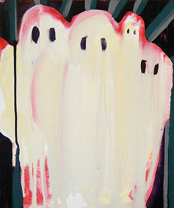 Allison Evans,  Ghosts,  2011, oil on panel, 12h x 10w in.