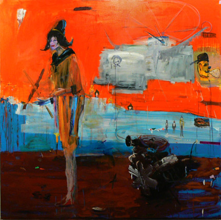 Matthew Blackwell,  SQ 66,  2011, acrylic, oil, and collage, 72h x 72w in.