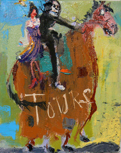 Matthew Blackwell,  Tours,  2006-11, oil on canvas, 10h x 8w in.