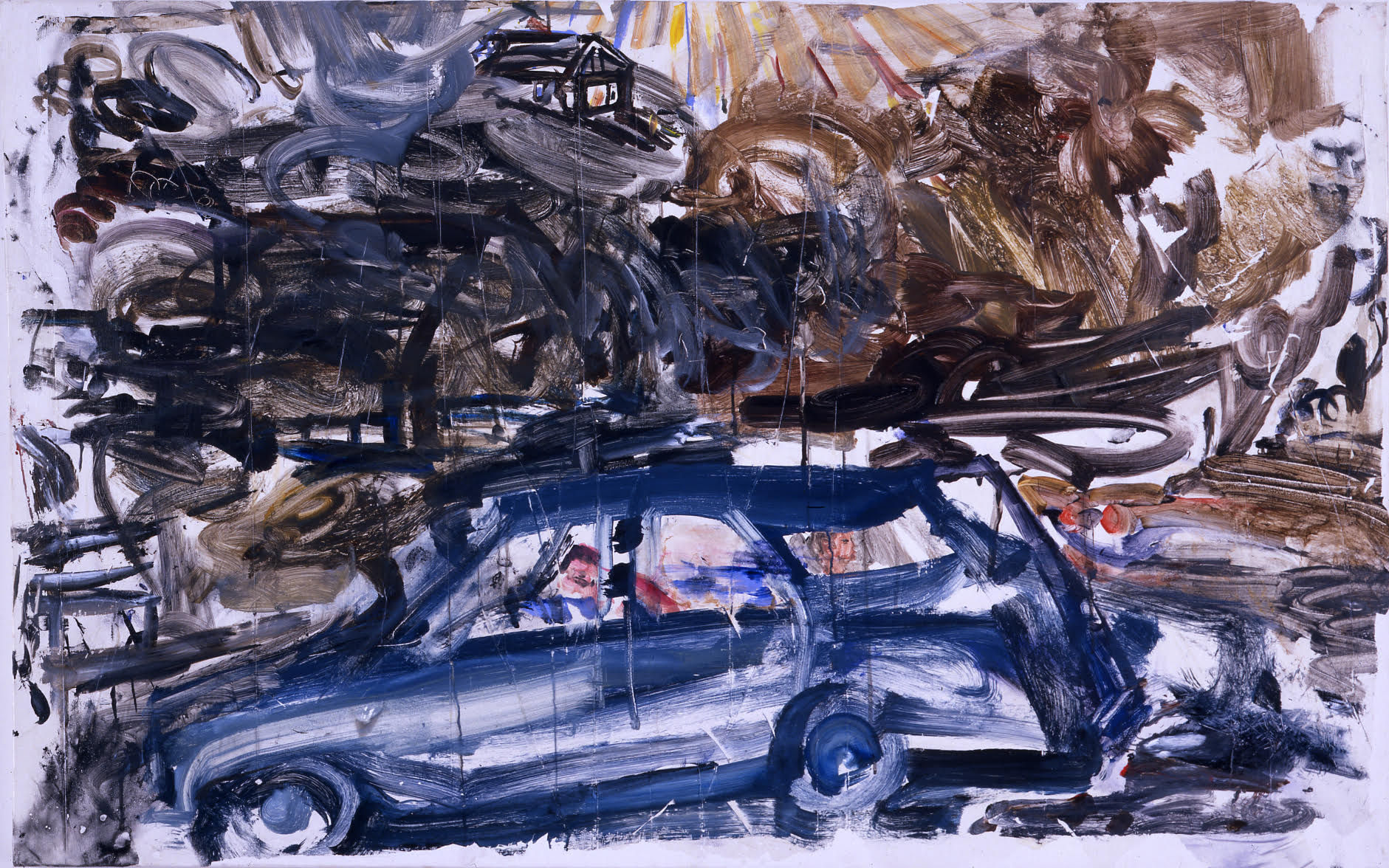 David Deutsch,  Idle , 2009, Acrylic on linen, 30h x 48w in.