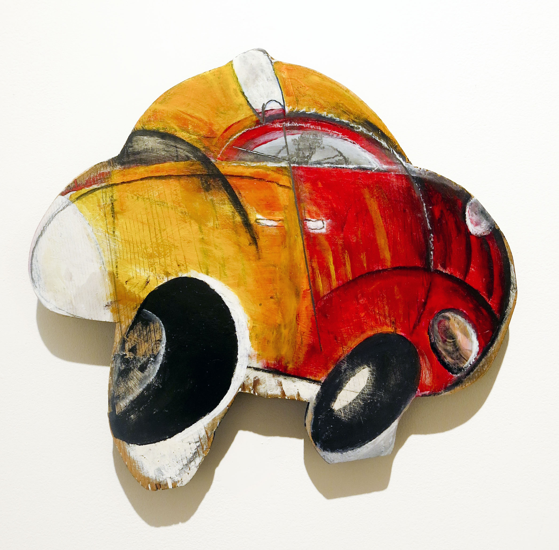Jenny Snider,  Big Cab , 2001-2002, Painted wood, 15h x 17.5w x 1d in.