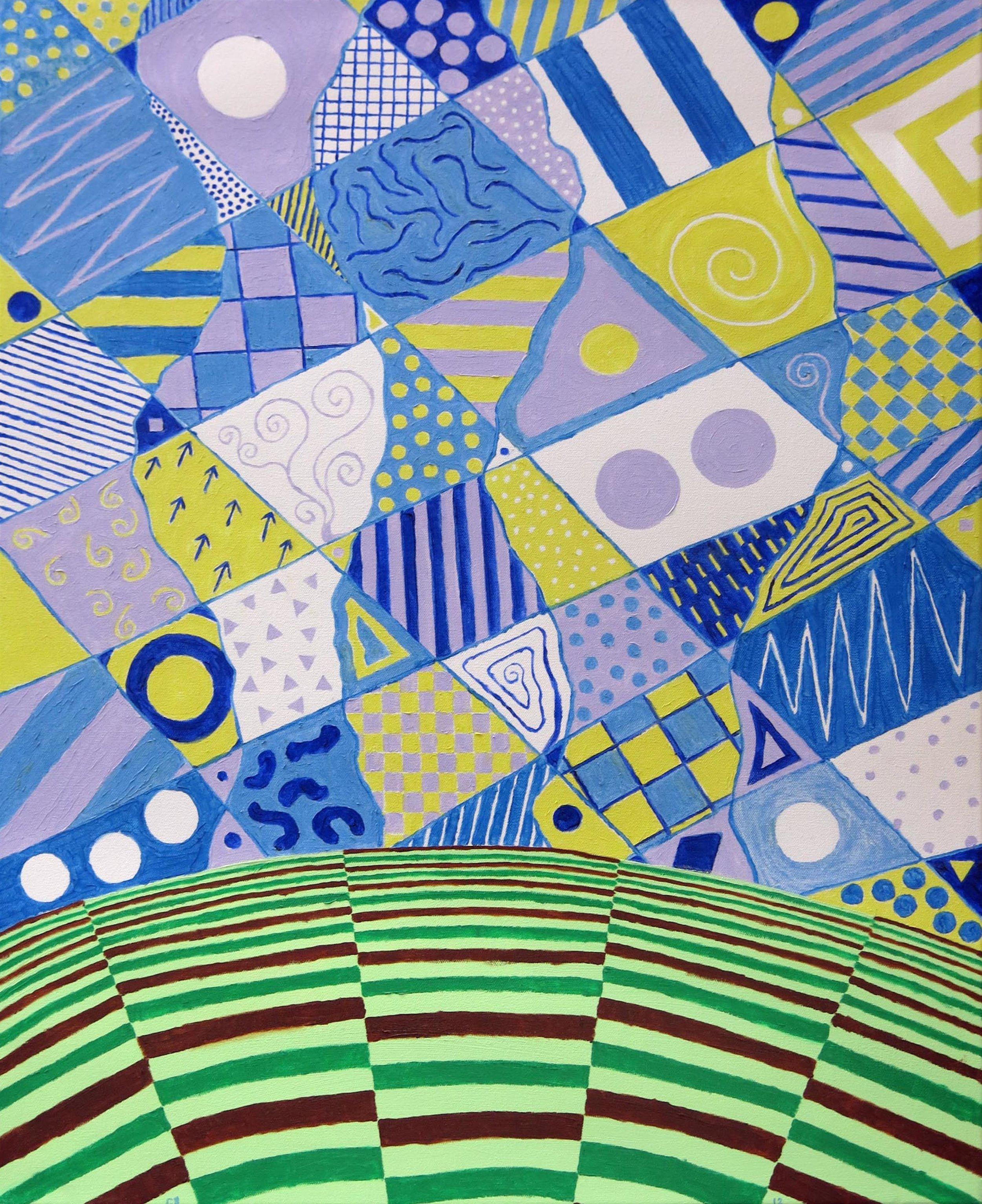 Cuck Boyce,  Calico Sky,  2012, oil on canvas, 28h x 21 1/4w in.