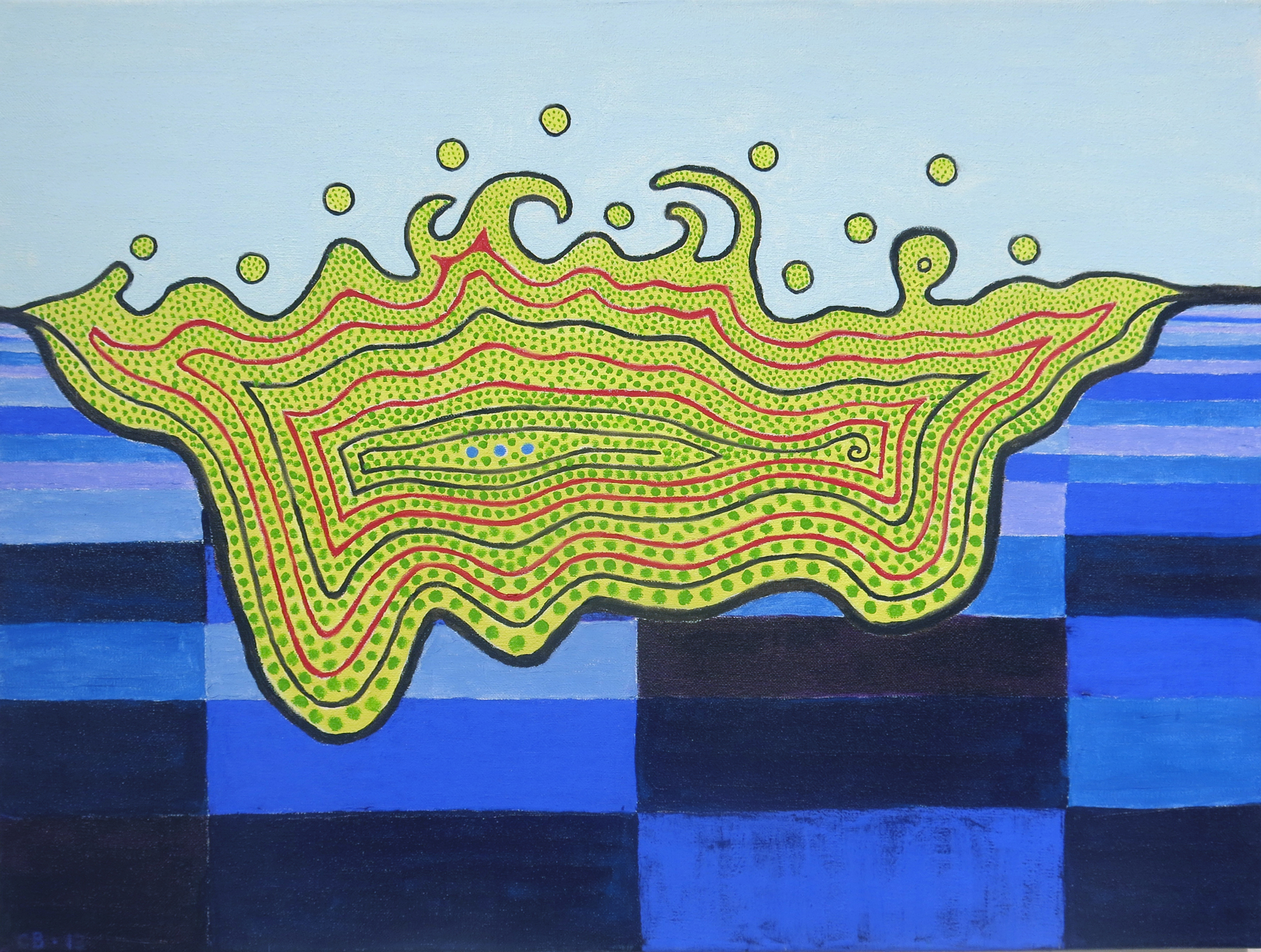 Chuck Boyce,  Floating Island,  2012, oil on canvas, 24h x 18w in.