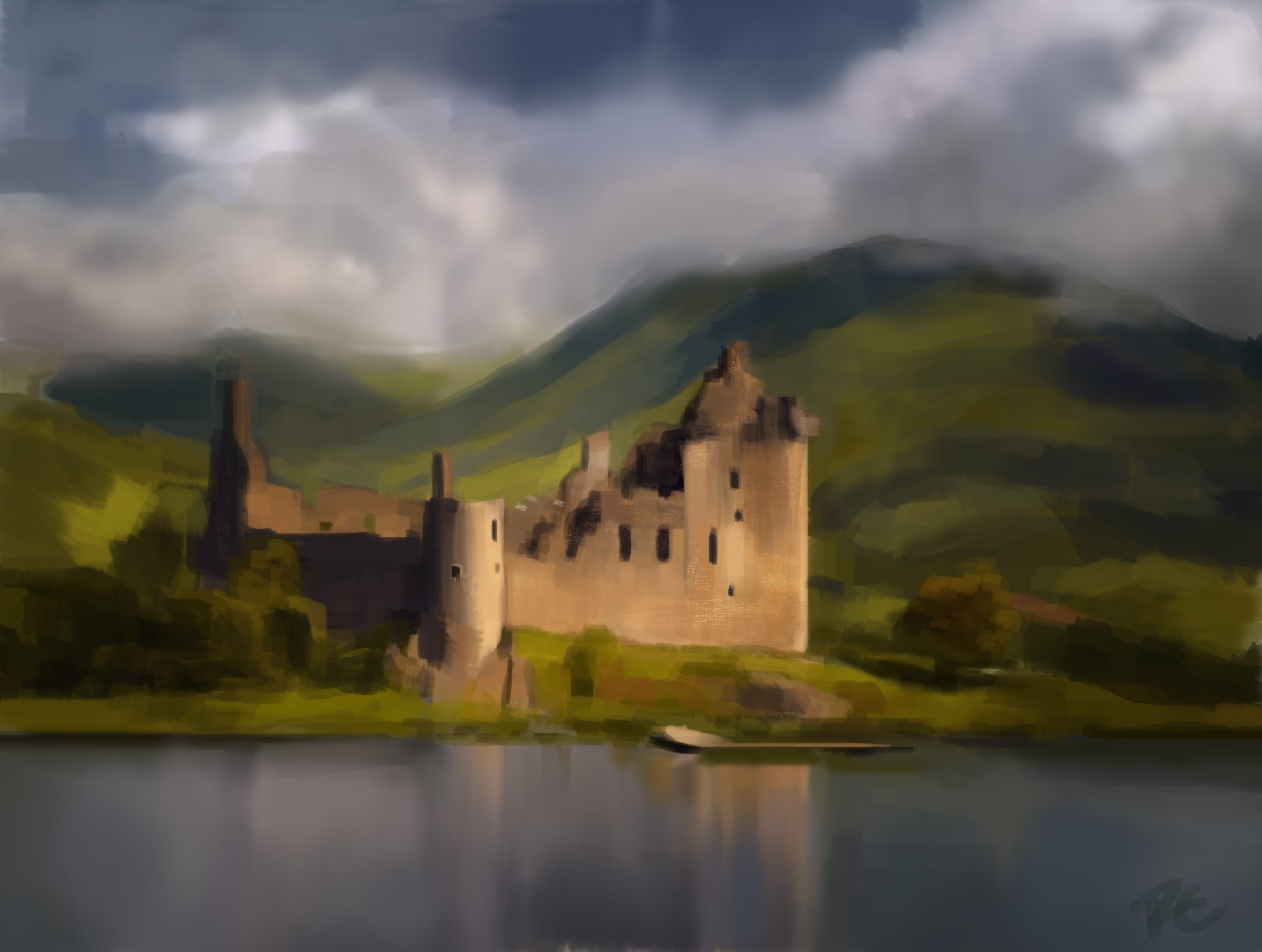 Kilchurn Castle Speed Paint