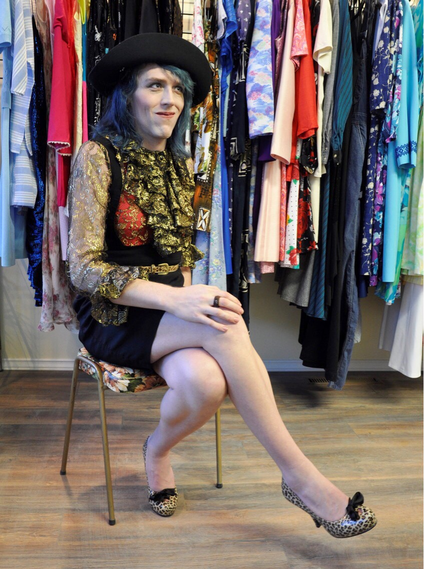 model: Elise Pallagi / photographer: Jennifer Sparrowhawk /clothes:  Better Off Duds