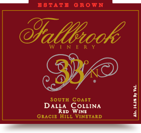 "2012 33º N, South Coast (Gracie Hill Vineyard ""Dalla Collina"")"