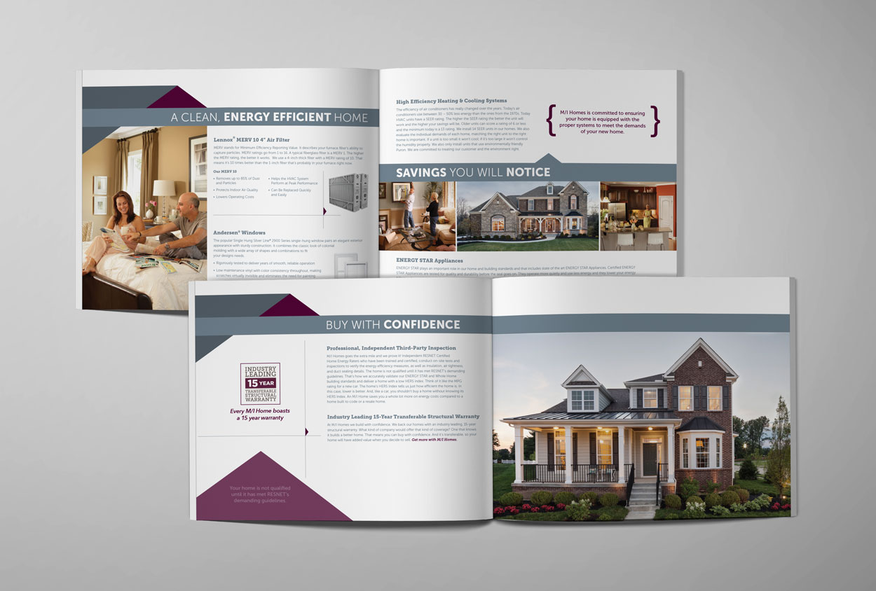 RS Creative&Design_Insides spreads of a home builder's promotional catalog
