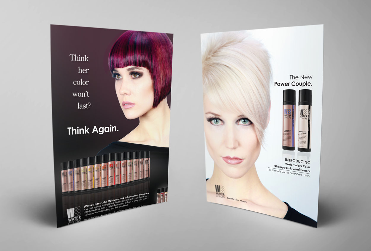 RS Creative&Design_Two magazine ads created for a professional color shampoo line