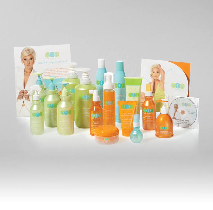 RS Creative&Design_Packaging plus marketing materials and educational info for a professional haircare line