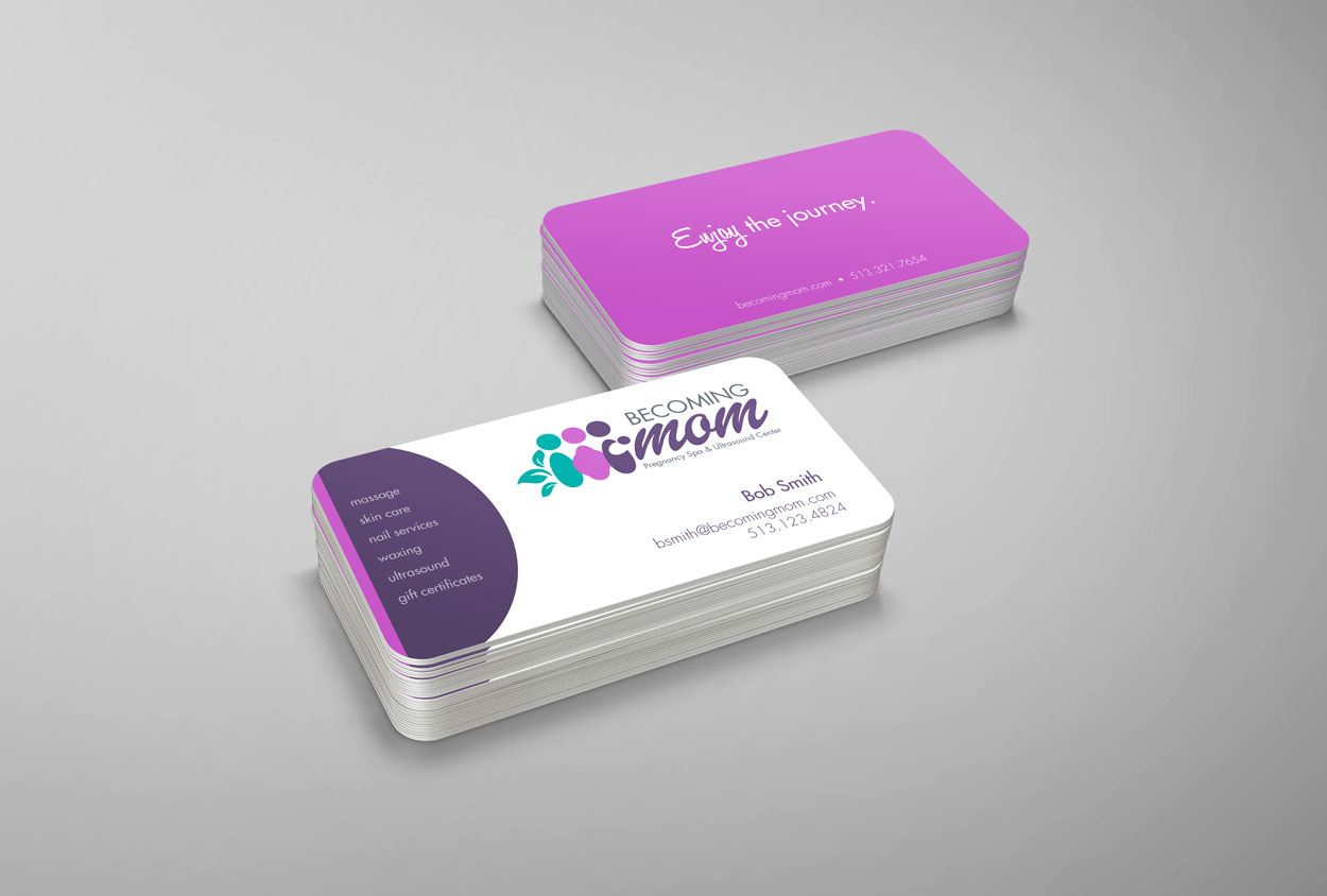 RS Creative&Design_Logo and business cards for a pregnancy salon