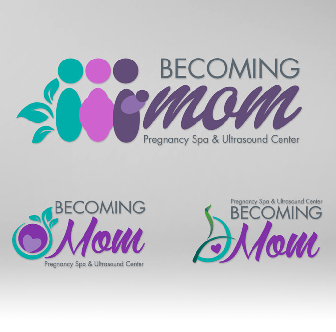 RS Creative&Design_Various versions of a logo for a pregnancy salon
