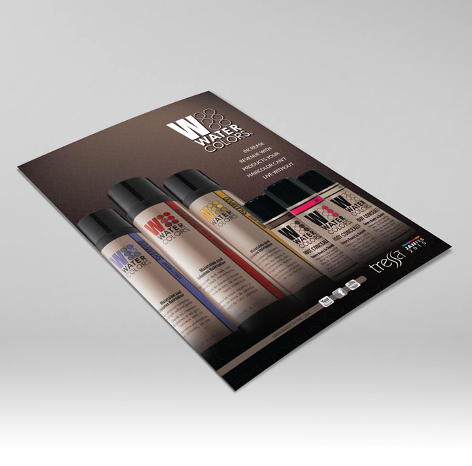 RS Creative&Design_Cover of a bi-monthly promotions brochure for a professional haircare line