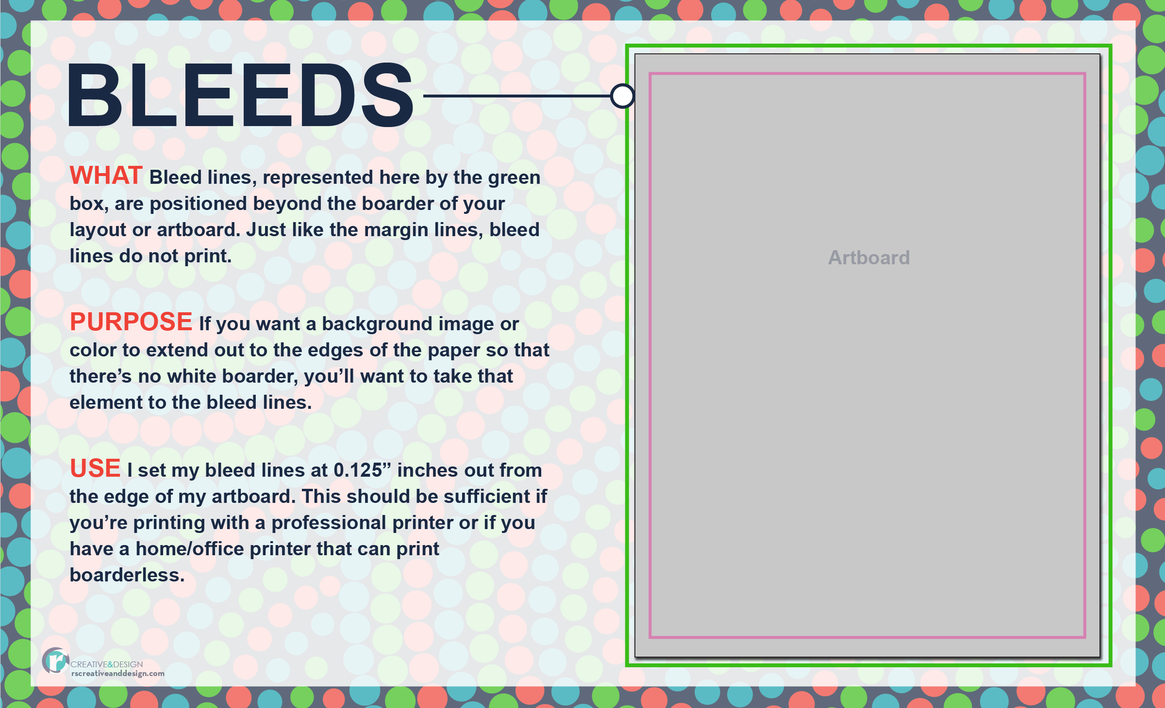 Bleed lines — what they are and how to use them in your layout