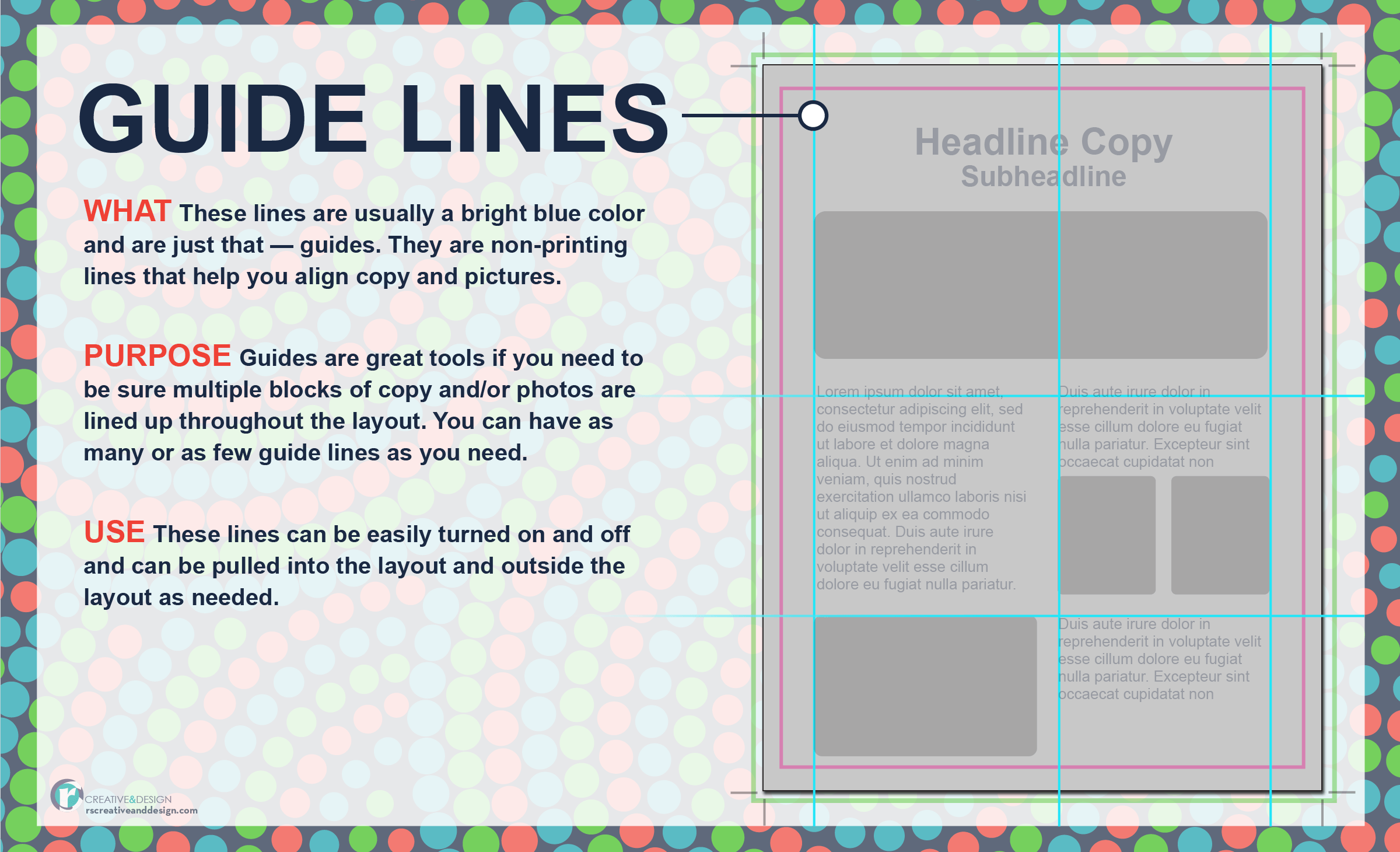 Guidelines — what they are and how to use them in your layout