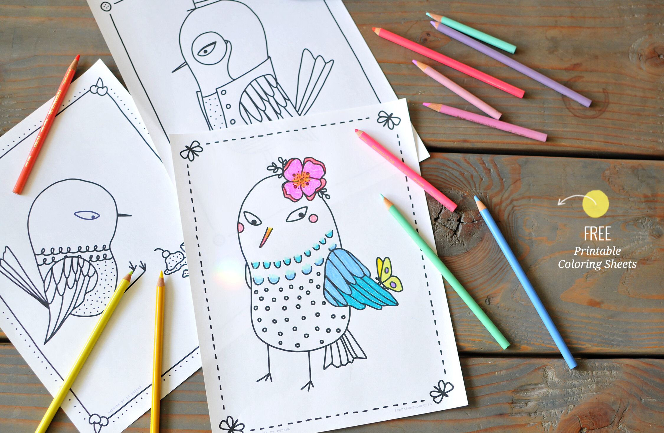 - Free Coloring Sheets + Printables Roundup — Creature Comforts