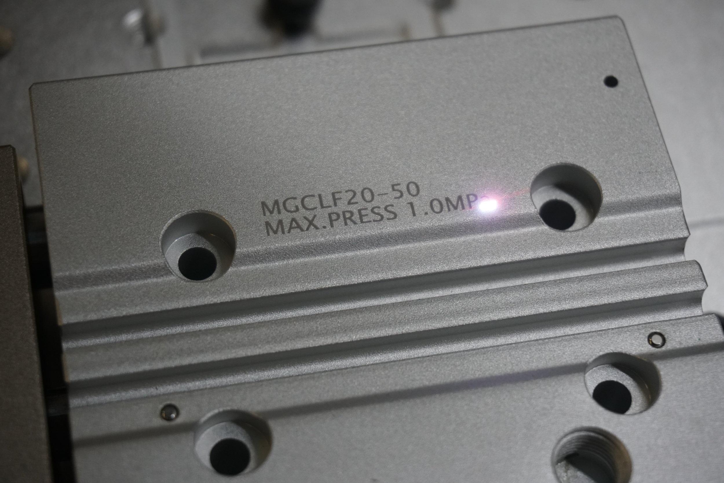 Aluminum dark marking