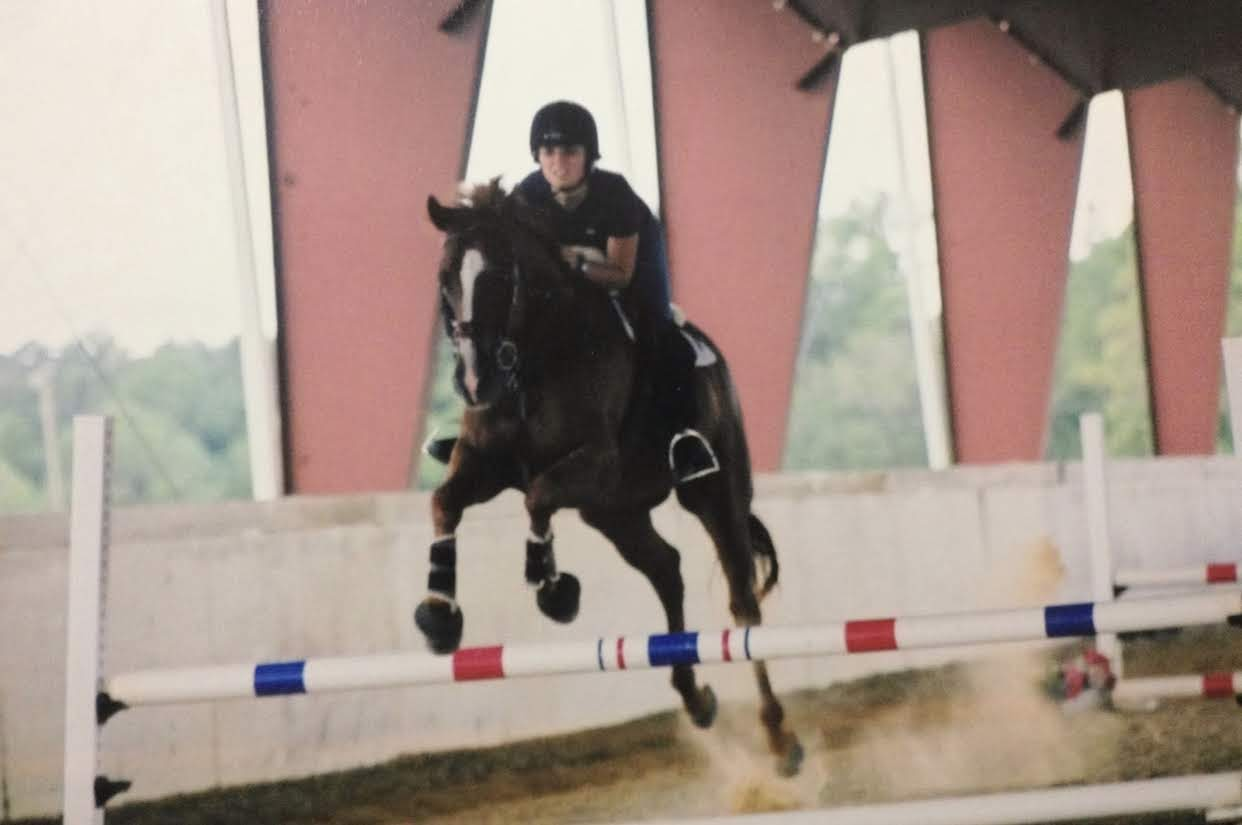 In my mid-20s towards the end of my show jumping era.