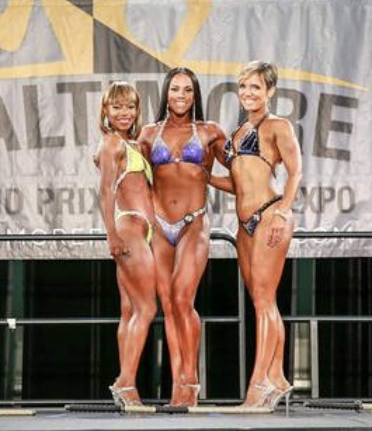 I took 3rd and 4th place at my first bodybuilding competition.  (That's me on the right)