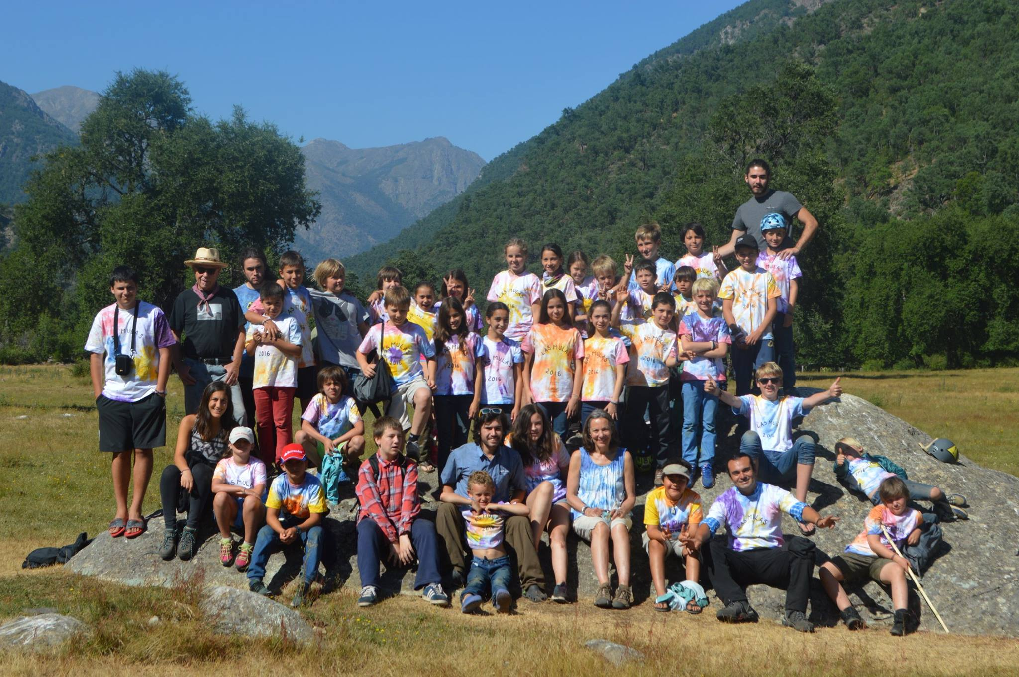 Group photo from Camp Las Mulas