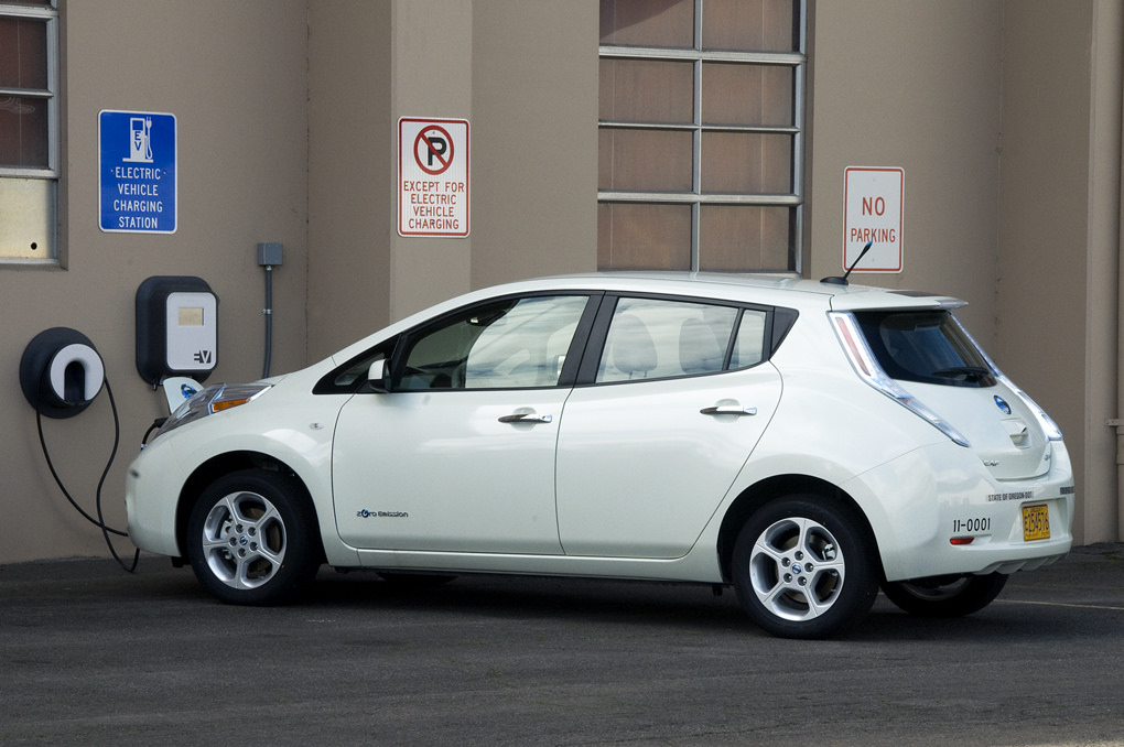 The Oregon Department of Transportation has integrated electric vehicles into its fleet, with easy on-site charging.