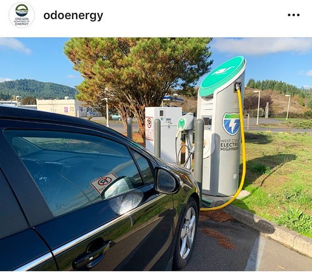 From @odoenergy  Oregon has an ever-expanding network of electric vehicle chargers to support your EV road trip — like this one in Oakland, OR! #goelectricor #westcoastelectrichighway #electricvehicle #ev #goelectric #carcharger