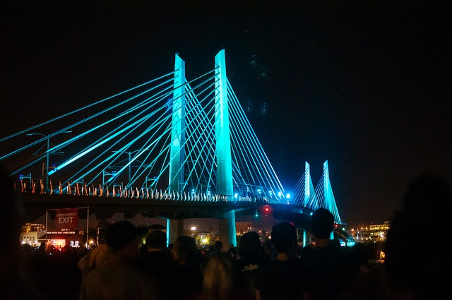 Tilikum Crossing at Night