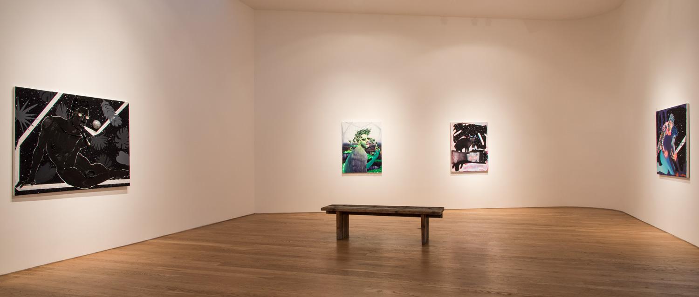 Devan Shimoyama and Salómon Huerta Installation View, 2016