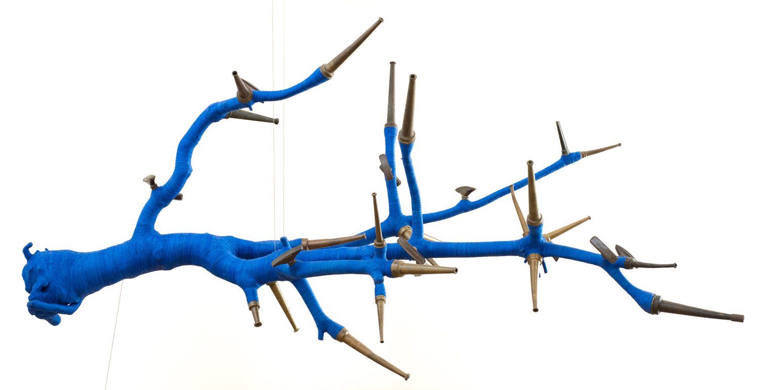 Blue McRight   Siren  (2014) Mixed media, 60 x 111 x 52in.