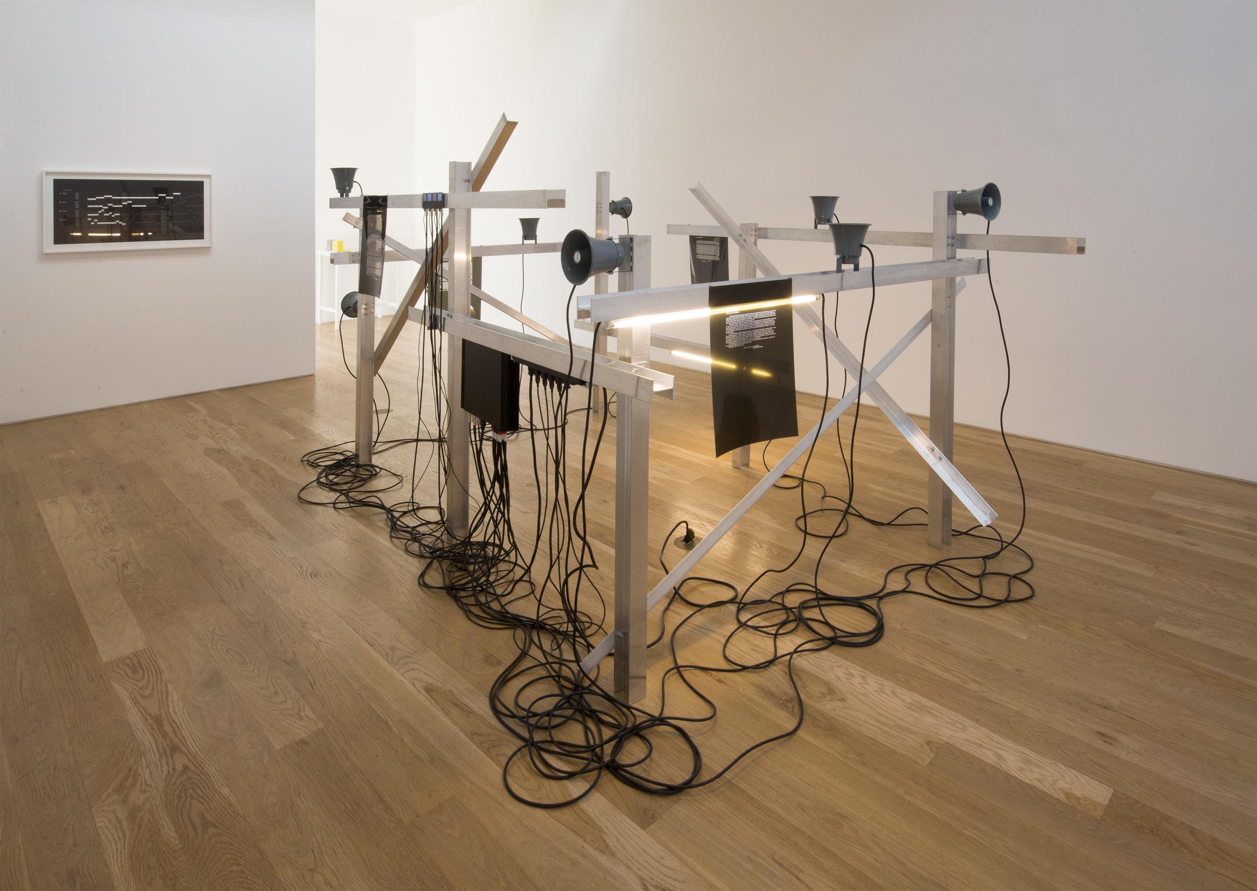 David Schafer, installation view, 2014.