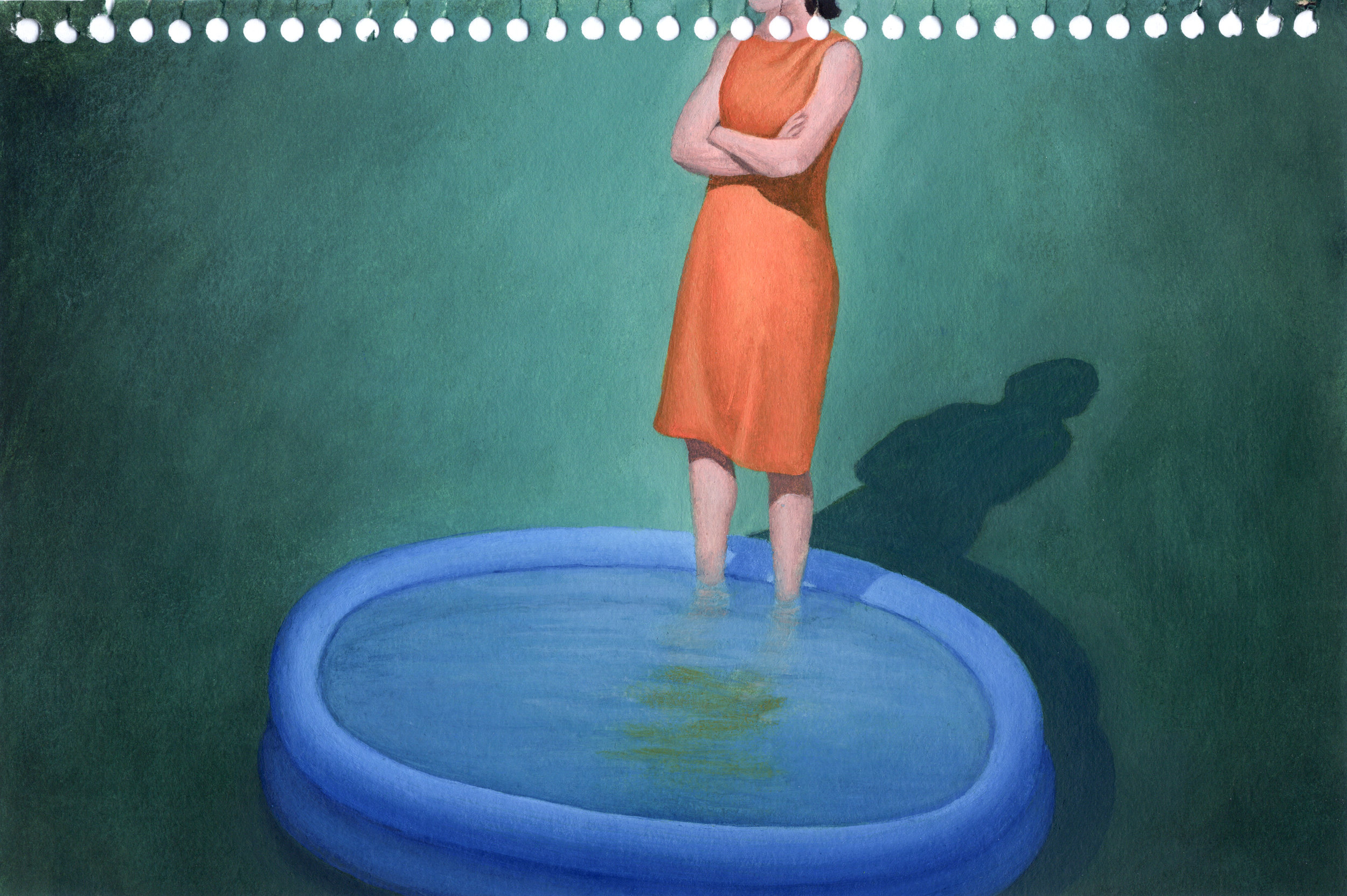 Blue McRight   Untitled (Commitment Issues)  (2012) Oil on paper, 9 x 6in.