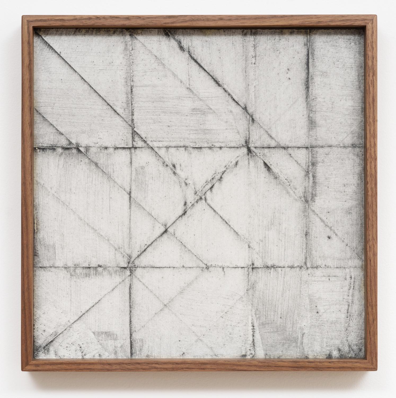 Jenene Nagy   weight/object 7  (2017) Oil on paper, 10 x 10 x 1.5in.