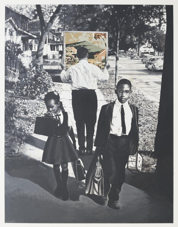 Martin Mull   Sidewalk  (2016) Oil on paper, 15.25 x 20in.