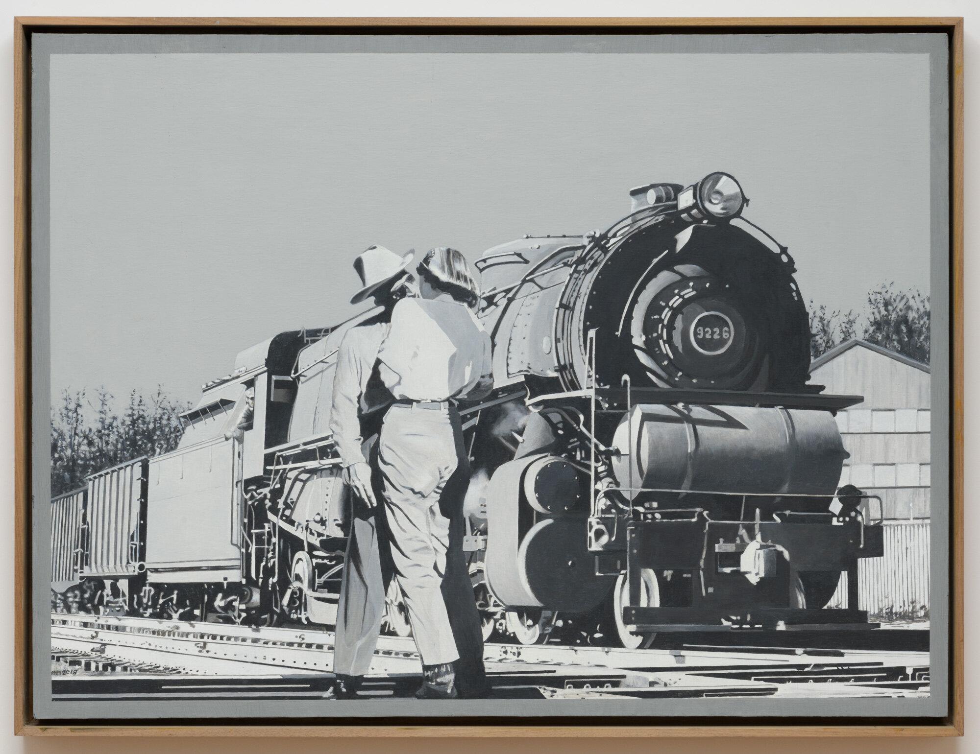 Martin Mull    Adios , 2018  Oil on Linen  30 x 40 in.