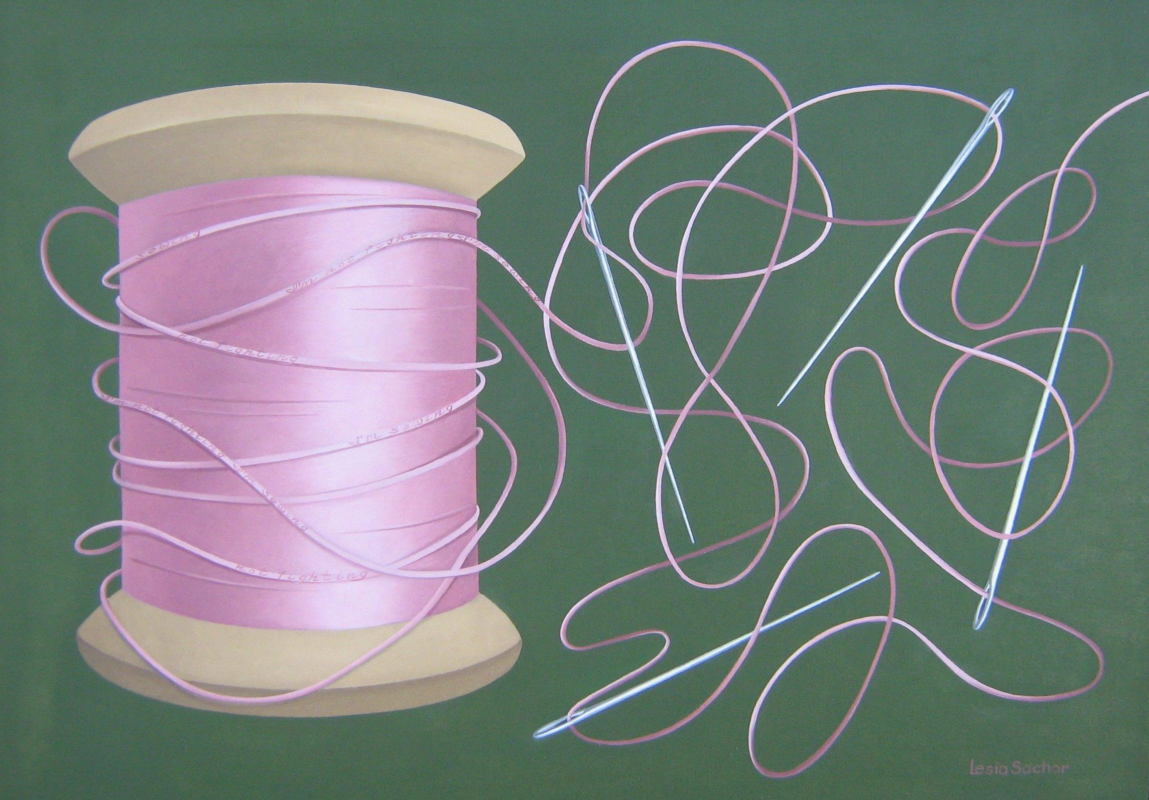 L.Sochor I'm not fighting I'm sewing  oil  22x27.jpg