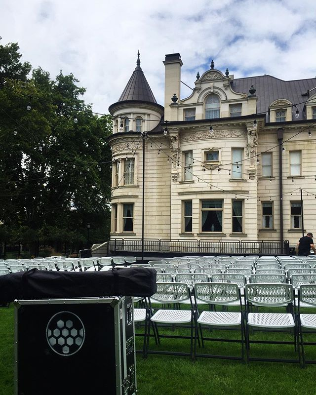 Set up happening at the Governor's Mansion! - - - #outdoorevents #eventproduction #clearlampav #avproduction