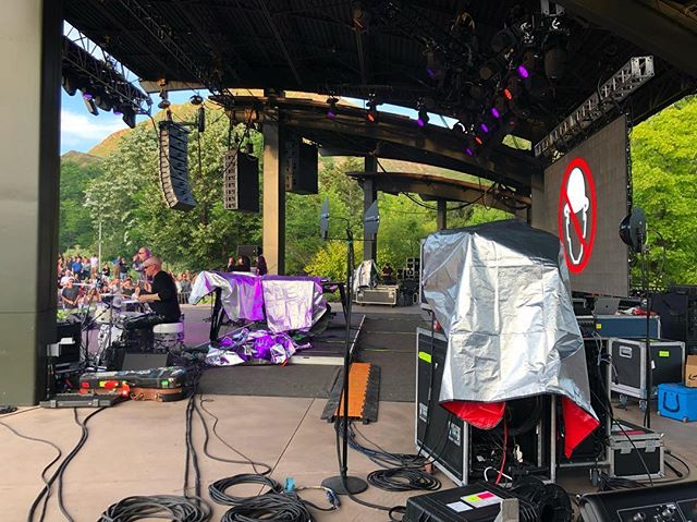 Video Support at Red Butte for #howardjones and #menwithouthats - - - - #clearlampav #clearlamp #ledwall #concerts #safetydance