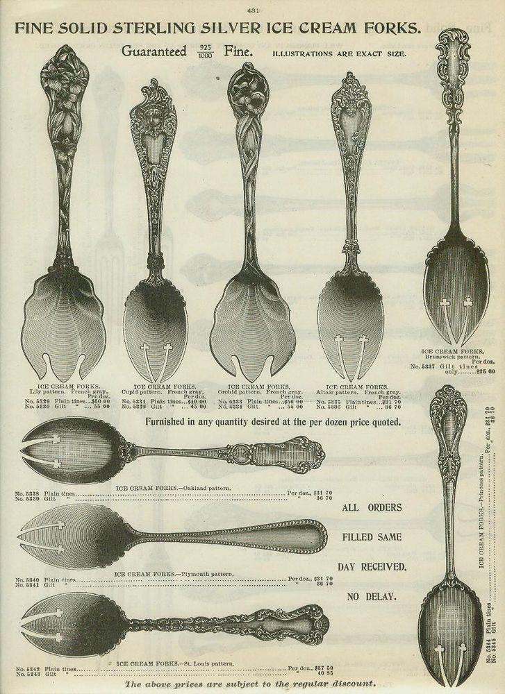 vintage silverware tableware sets cooking