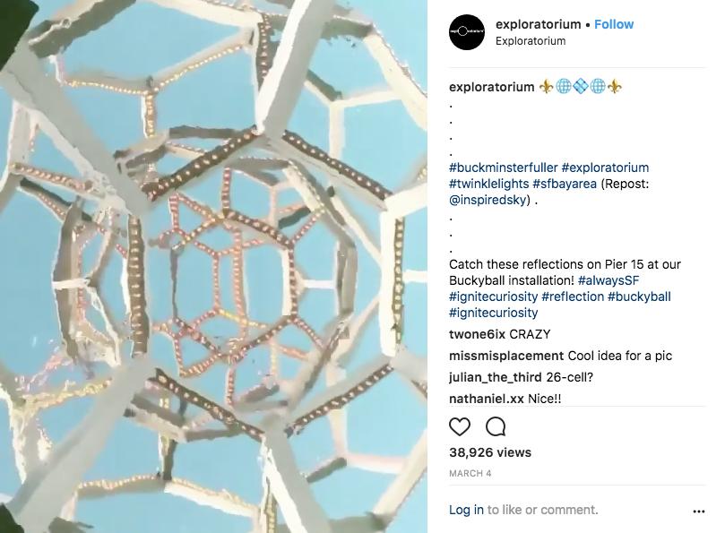 My video on the Exploratorium instagram account @exploratorium.