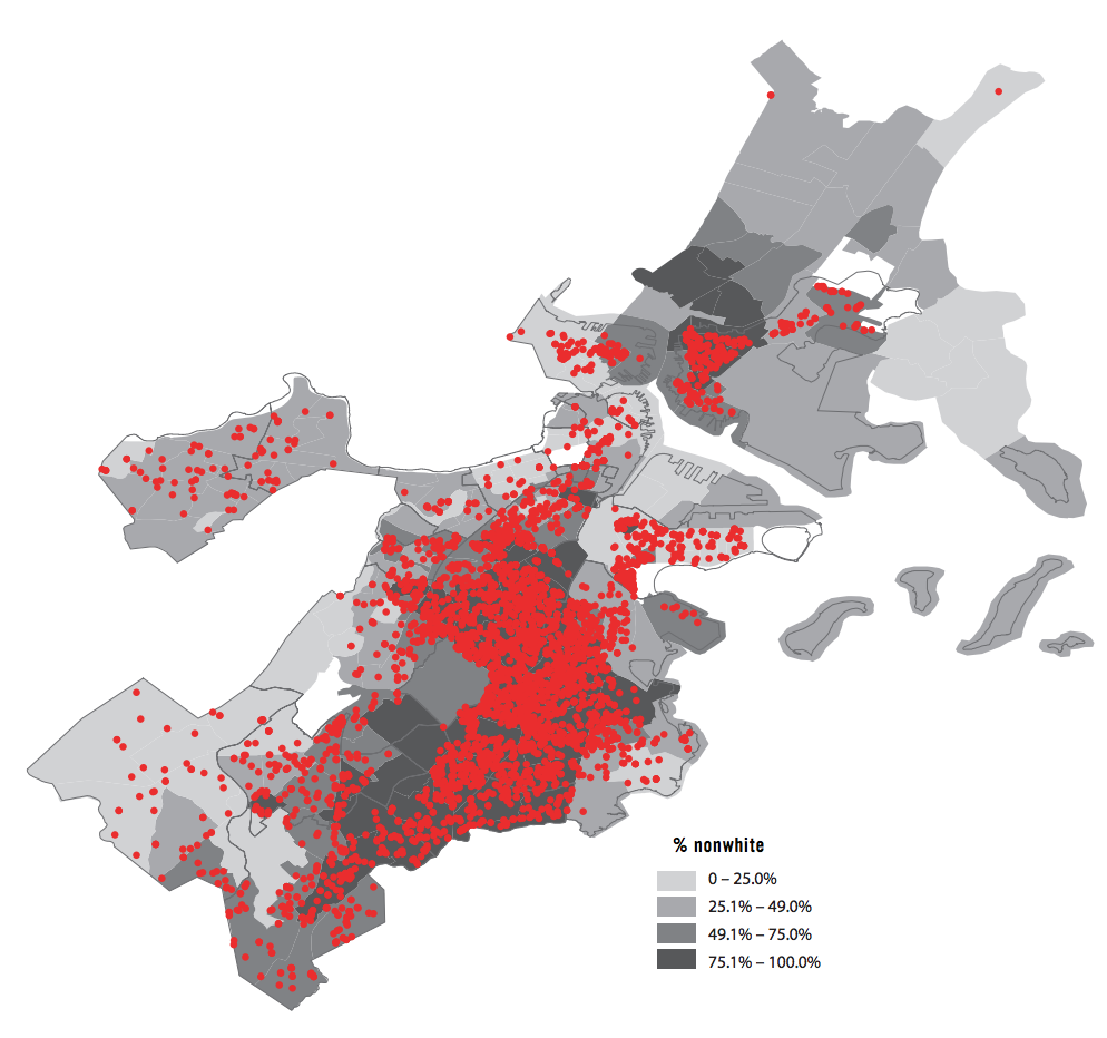 Releases from the Suffolk County House of Correction by Neighborhood Race/Ethnicity, 2009-2015